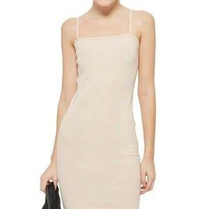 TOPSHOP Bodycon Cami Dress in Nude NWT